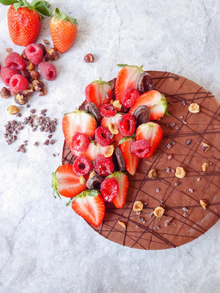 raw vegan and gluten free chocolate cake
