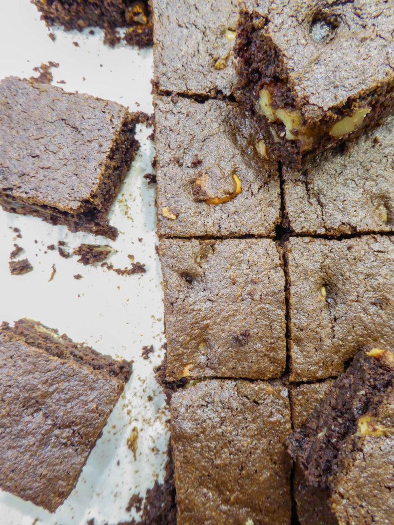 Healthy gluten free low sugar brownie