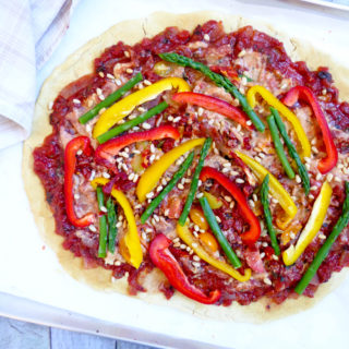 Gluten free pizza - vegan healthy pizza dough
