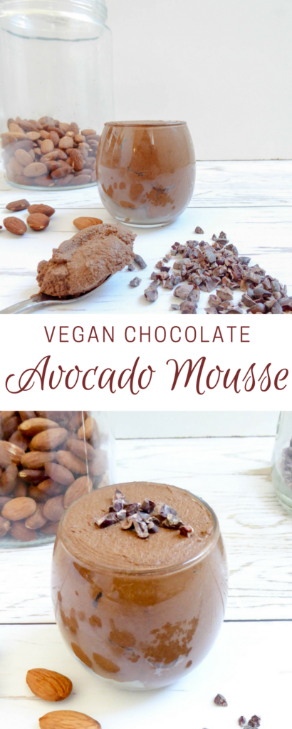 Vegan Chocolate Avocado Mousse - Healthy vegan and gluten free indulgence for dessert or snack