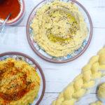 Homemade hummus - Classic Israeli dish and great vegan high in protein alternative
