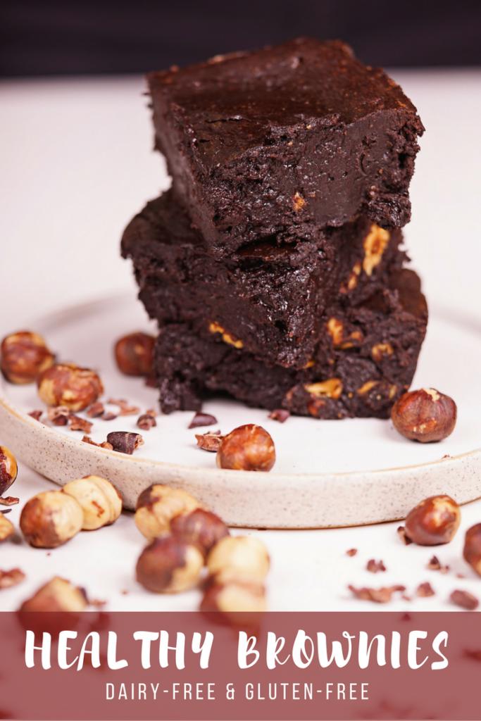 Healthy gluten free low sugar brownies