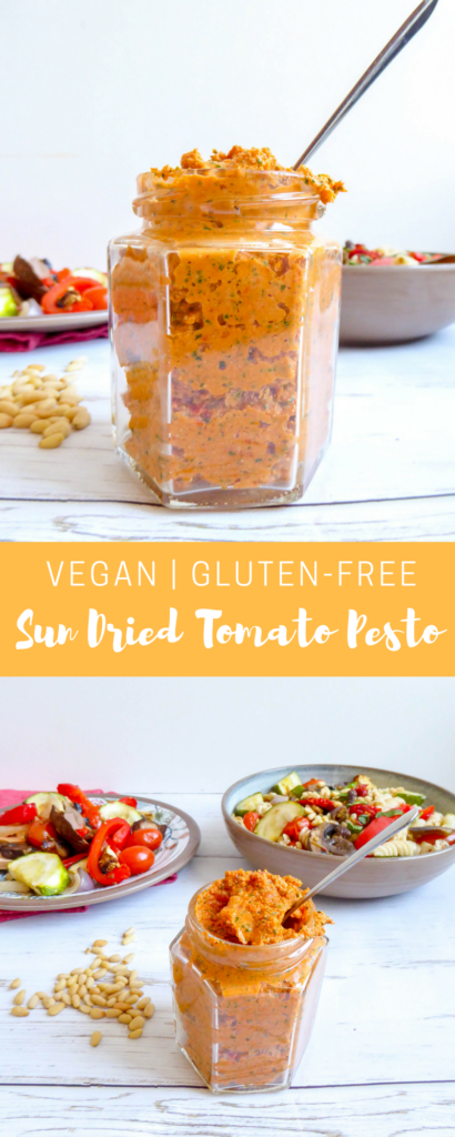 sun dried tomato pesto gluten free vegan